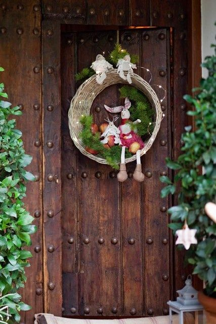 Corona navideña para decorar la casa