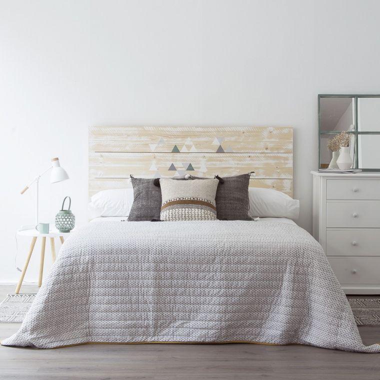Cabeceros ideales para decorar el dormitorio blog de - Cabeceros de cama originales pintados ...