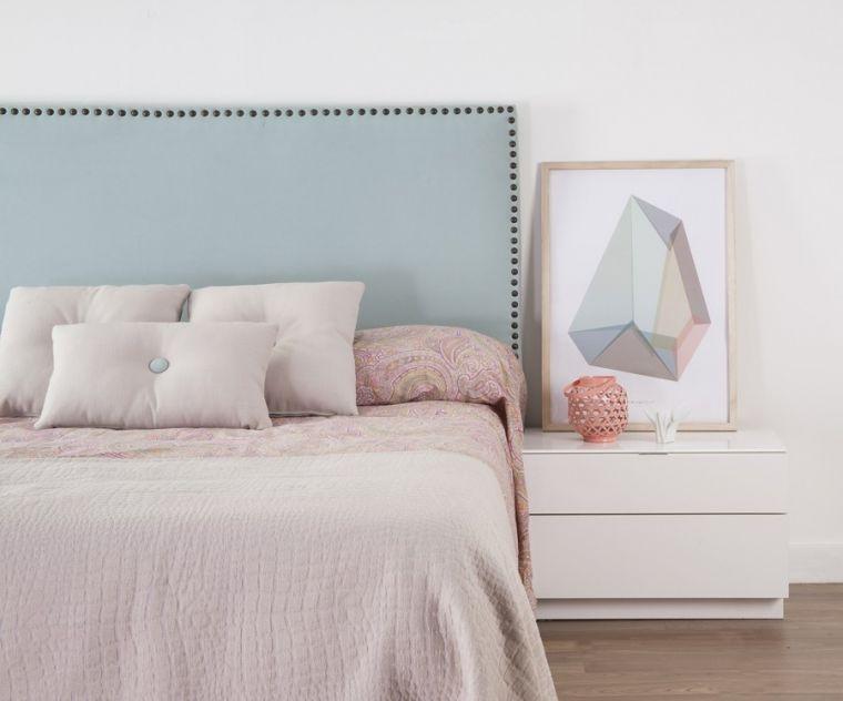 Cabeceros ideales para decorar el dormitorio blog de vivienda2 - Cabeceros tapizados tela ...