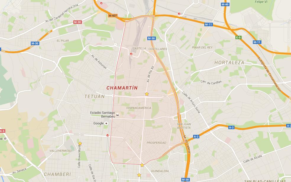 mapa distrito Chamartin